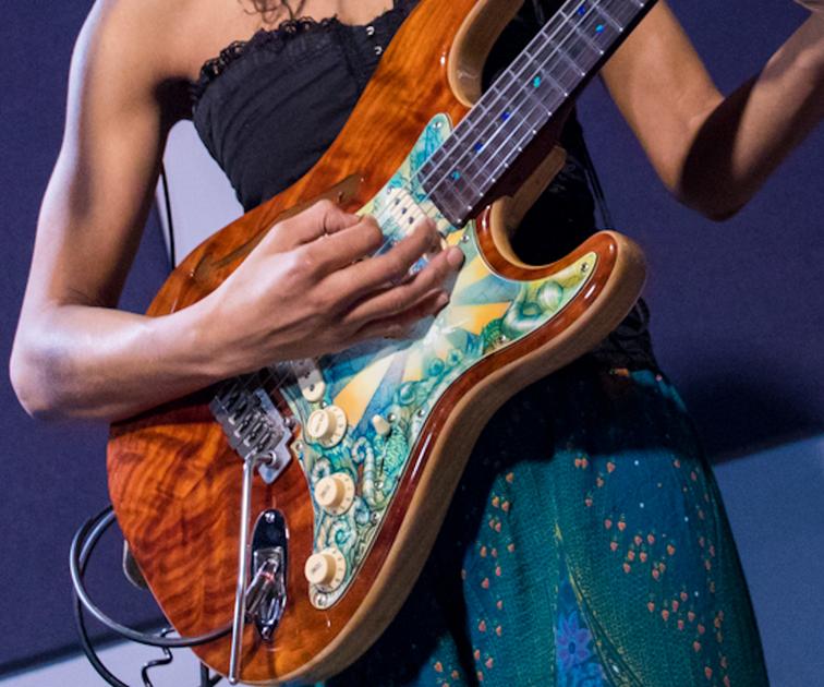 Custom Painted Guitar Pickguard