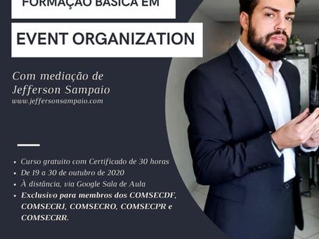 COMSECDF e GAEXS ofertam curso gratuito de Formação Básica em Event Organization