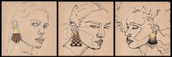 BRASS STUD-DOUBLE SIDED WOOD EAR