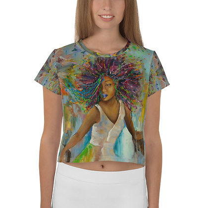 Majestic All-Over Print Crop Tee