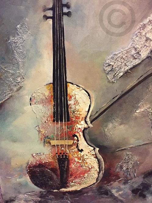 Textured Violin - Original Painting