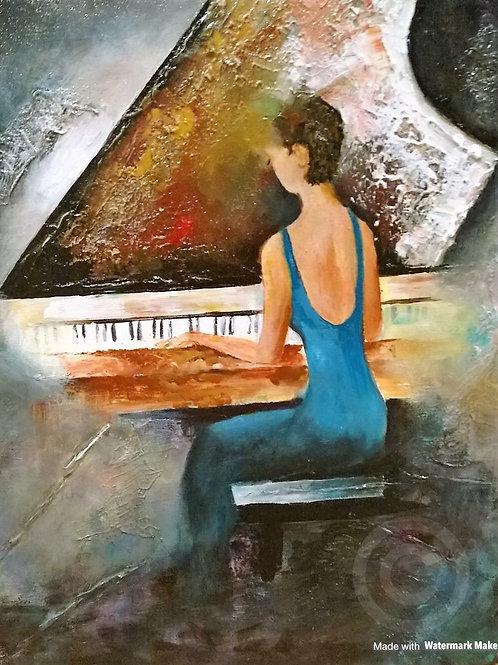 Piano Lady - Original Painting