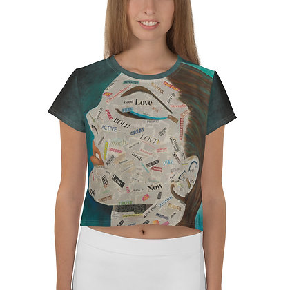 Affirmation All-Over Print Crop Tee