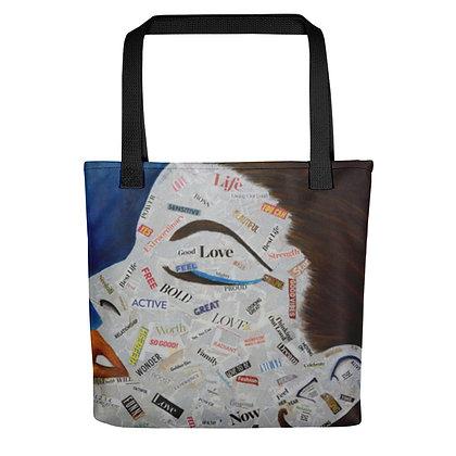 Affirmation All-Over Print Tote Bag (Blue)