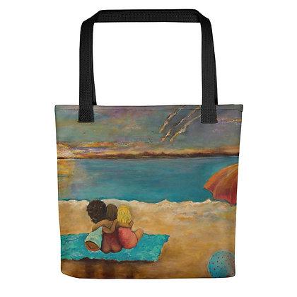 Beach Buddies All-Over Print Tote Bag