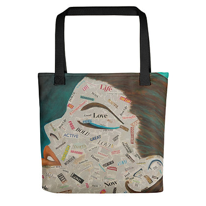 Affirmation All-Over Print Tote Bag (Green)