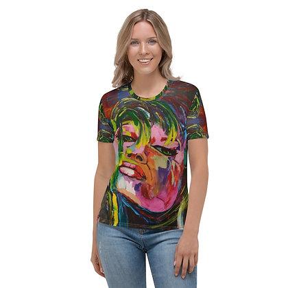 Sassy All-Over Print Crew Neck T-shirt