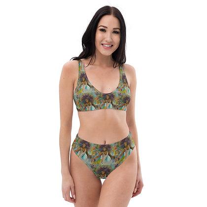 Majestic All-Over Print High-Waisted Bikini