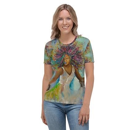 Majestic All-Over Print Crew Neck T-shirt
