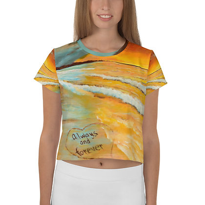 Always & Forever All-Over Print Crop Tee