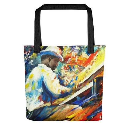 Jazz Man All-Over Print Tote Bag
