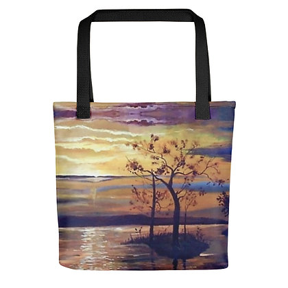 Yellow Sunset All-Over Print Tote Bag