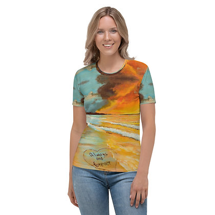 Always & Forever All-Over Print Crew Neck T-shirt