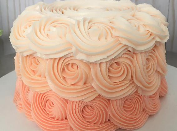 Peach Ombre Rosettes