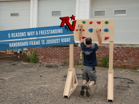 5 Reasons Why A Freestanding Hangboard Frame is Juuuust Right
