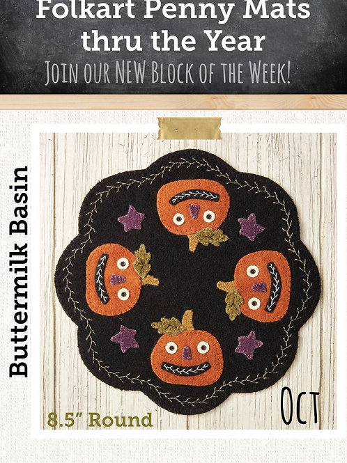 October Folkart Penny Mat: Pattern