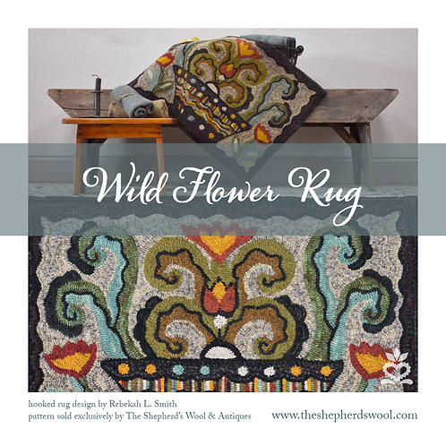 """Wild Flower Rug"" by Rebekah L. Smith"