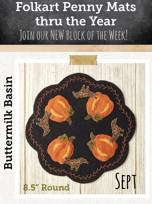 September Folkart Penny Mat: Kit