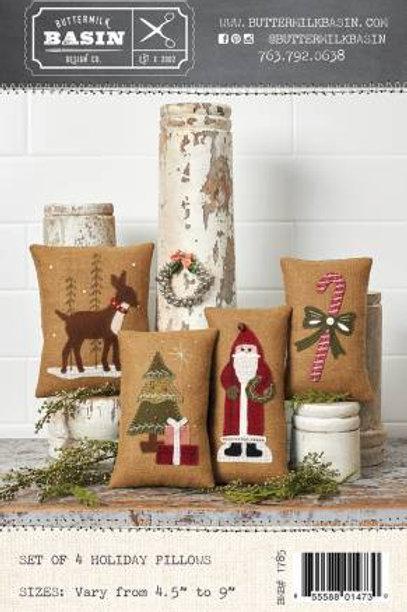 Set of 4 Holiday Pillows Kit