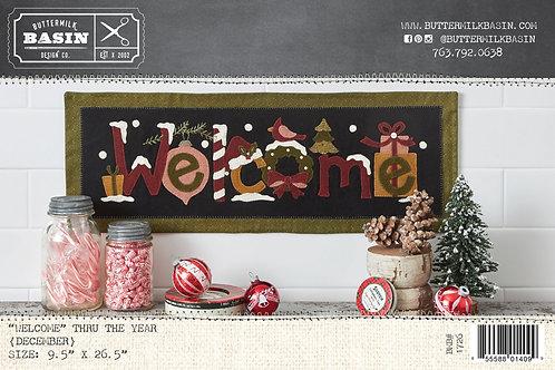 """Welcome"" Mat thru the Year * December*  Kit"