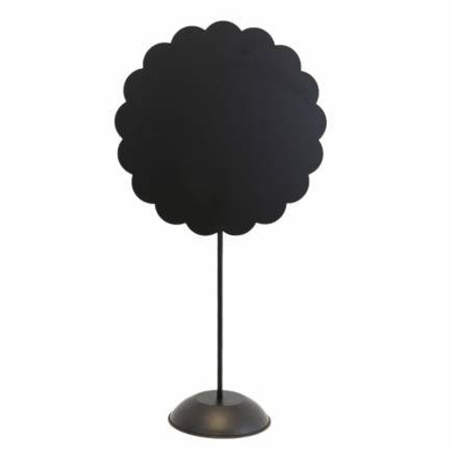 Black Scalloped Stand