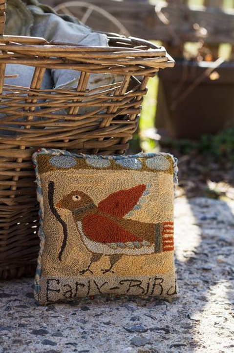 Early Bird Saw Dust Pillow by Notforgotten Farm