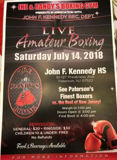 Live Amateur Boxing July 14, 20
