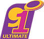 91 Ultimate Logo in vibrant purple, pink and yelllow colour