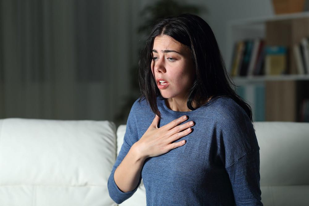 sintomas de crise de pânico