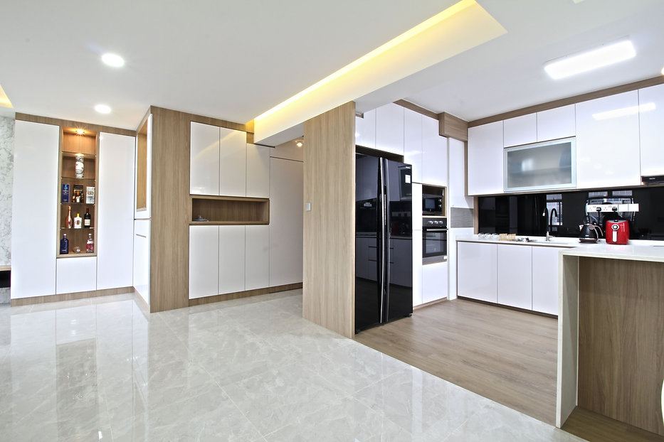 open concept kitchen scandinavian