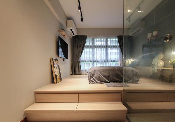 platform bed stairs
