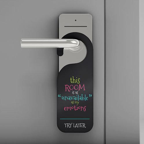 """""""Unavailable"""" Door Hanger"""