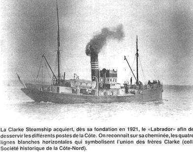 Le S.S. Labrador, Clarke Steamship