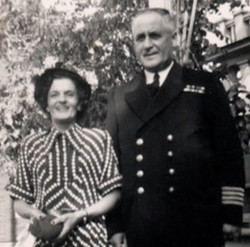 Le capitaine Albini Chouinard et son épouse Rose-Délima Longtin.