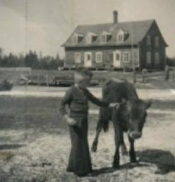 La maison de François-Xavier Chouinard et Mary Wilson aux Îlets-Caribou, qui est devenu ensuite la résidence de la famille d'Elzéard Chouinard et Élise Fraser.