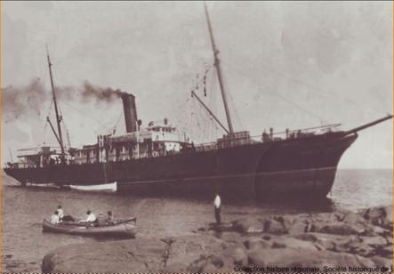 Le naufrage du North Shore aux Îlets-Caribou en 1933.