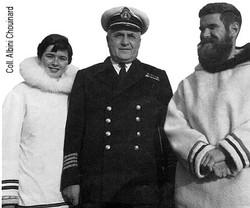 Le capitaine Albini Chouinard, commandant à bord du brise-glace C.D. Howe.