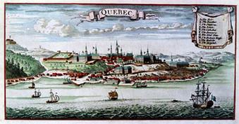 Illustration de Québec en 1685