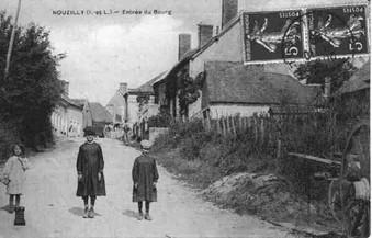Village de Nouzilly à proximité de la ville de Tours en France