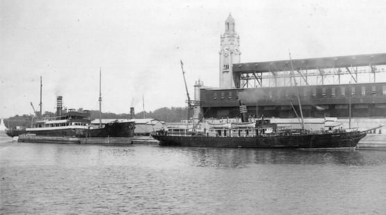 Le North-Shore et le Gaspésia au port de Montréal