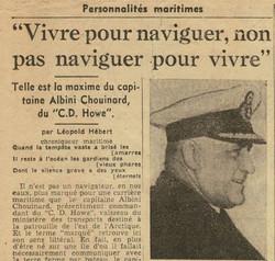 La devise du capitaine Albini Chouinard