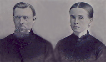 François-Xavier Chouinard et son épouse Mary Wilson, famille pionnière du village des Îlets-Caribou sur la Côte-Nord.