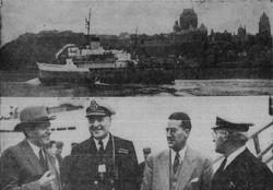 Le capitaine du brise-glace C.D. Howe, Albini Chouinard en 1950.