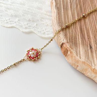 Bracelet Flora rose