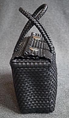 Panier plastique recyclé noir