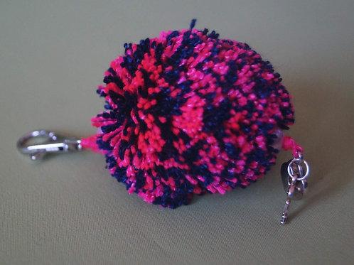 Porte-clefs pompon