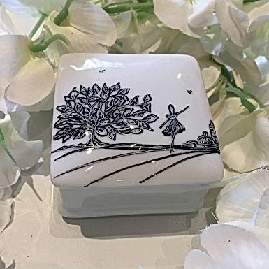 Boîte céramique carrée