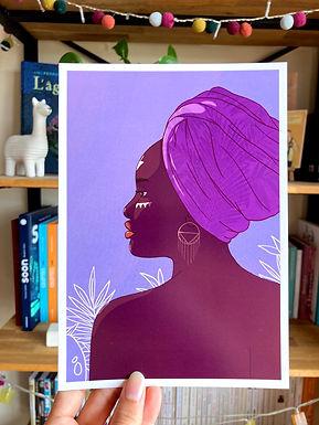 Affiche La femme au Turban