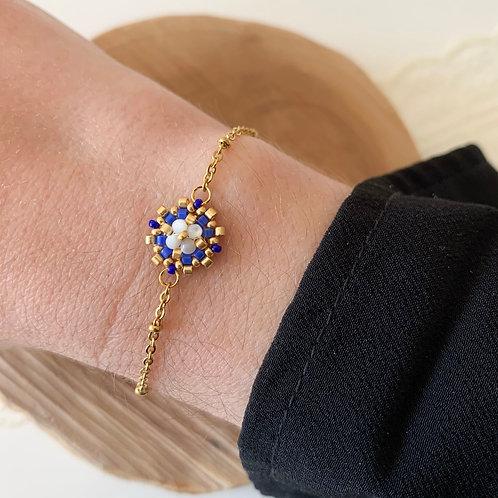 Bracelet Flora Bleu