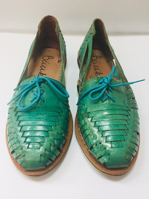Turquoise Leather Shoes #36 #37